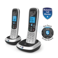 BT 2200 DECT TELEPHONE WITH NUISANCE CALL BLOCKER TWIN PACK