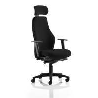 FLEXION BLACK HIGH BACK LEATHER TASK CHAIR