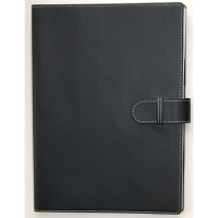 COLLINS PADFOLIO WITH STRAP + A4 WIRO NOTEBOOK  305 X 219MM BLACK