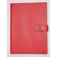 COLLINS PADFOLIO WITH STRAP + A4 WIRO NOTEBOOK  305 X 219MM RED