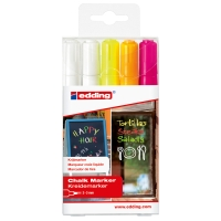 EDDING 4095 ASSORTED NEON CHALK MARKERS - PACK OF 5