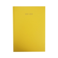 LYRECO YELLOW A5 ACADEMIC DIARY - WEEK TO VIEW