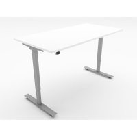 ASCEND SIT STAND DESK W1600 WHITE