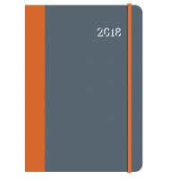 COLLINS ASPIRE WEEK TO VIEW DIARY A5 GREY / ORANGE