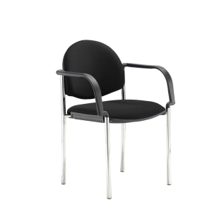 CODA MULITPURPOSE STACKING CHAIR WITH ARMS BLACK