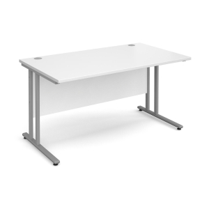 GD TRIOS 1400W SECRETARIAL DESK WHITE