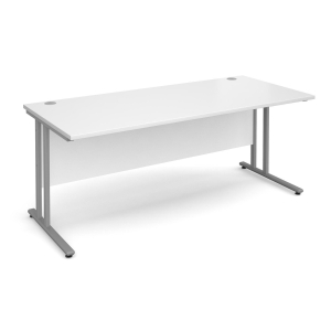 GD TRIOS 1600W SECRETARIAL DESK WHITE