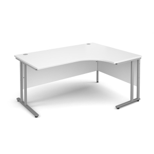 GD TRIOS 1600W R/H RADIAL DESK WHITE