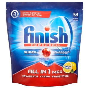 FINISH ALL IN 1 MAX POWERBALL DISHWASHER TABLETS LEMON- PACK OF 53 TABLETS