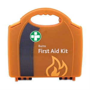 HSE BURNS FIRST AID KIT IN SMALL ORANGE AURA BOX