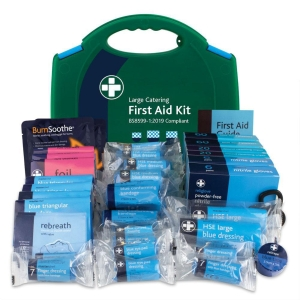 BS8599-1 LARGE CATERING KIT IN GREEN & BLUE LARGE AURA BOX