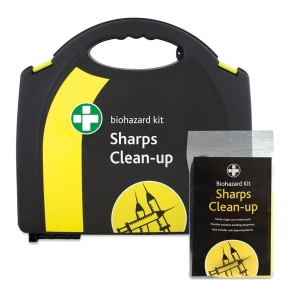 HSE SHARPS CLEAN UP KIT 5 APPLICATIONS IN MEDIUM AURA BOX