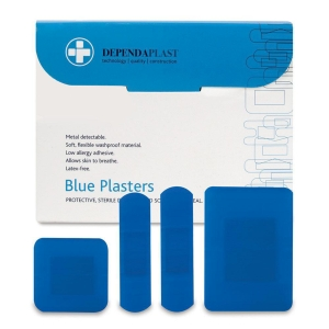 PLASTERS BLUE DETECTABLE  ASSORTED SIZES (PACK OF 100)