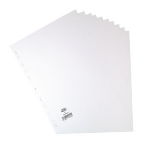 ELBA WHITE A4 10 PART DIVIDERS 160GSM