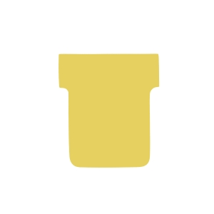 T-CARDS SIZE 2 YELLOW 60 X 85MM 170GSM - PACK OF 100