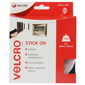 VELCRO® BRAND HOOK AND LOOP TAPE - 5M ROLL