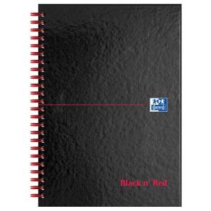 BLACK N  RED WIRE BOUND NOTEBOOK A5