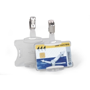 DURABLE SECURITY PASS HOLDER CLEAR - BOX OF 25