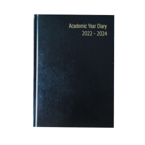 LYRECO BLACK A5 18-MONTH ACADEMIC DIARY- WEEK TO VIEW