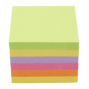 POST-IT Z POP-UP NOTES NEON RAINBOW 76X76MM - PACK 6