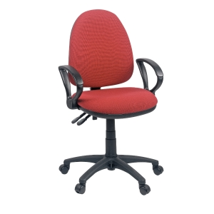 ORIGIN HIGH BACK OPERATORS CHAIR WITH ARMS - RED