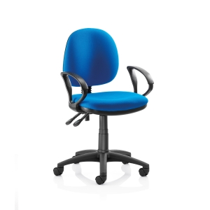 ORIGIN MEDIUM BACK OPERATORS CHAIR WITH ARMS - BLUE