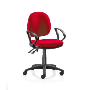 ORIGIN MEDIUM BACK OPERATORS CHAIR WITH ARMS - RED