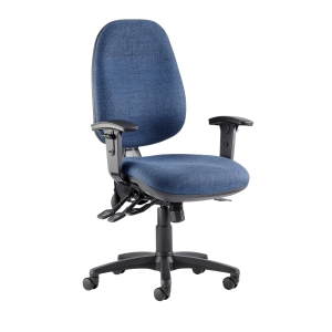 REI DELUXE HIGH BACK OPERATORS CHAIR WITH SYNCHRON - BLUE
