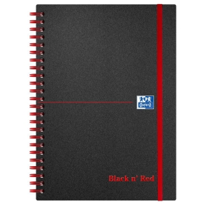 Black n  Red A5 Poly Cover Wirebound Notebook Ruled 140 Page