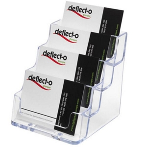 DEFLECT-O 70841 NAME CARD HOLDER 4 LAYERS