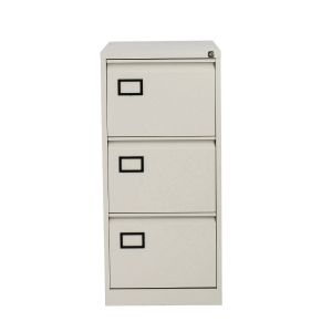 BISLEY AOC3V4 METAL FILING CABINET 3 DRAWER GREY