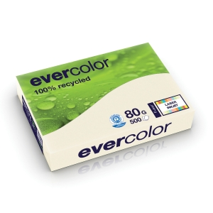 EVERCOLOUR RECYCLED PAPER A4 80 G IVORY - REAM OF 500 SHEETS