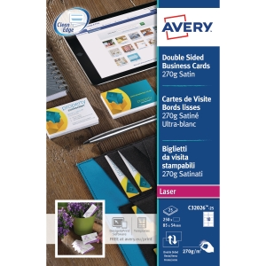 AVERY C32026-25 QUICK & CLEAN MATT FINISH BUSINESS CARDS - PACK OF 25