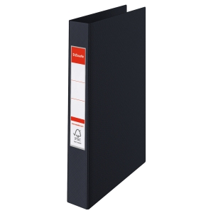 ESSELTE BLACK A5 2 O-RING BINDERS - BOX OF 10