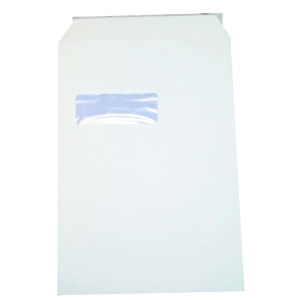 LYRECO ENVELOPES 324 X 229MM WINDOW 90 GRAM SELF SEALING WHITE C4  - BOX OF 250