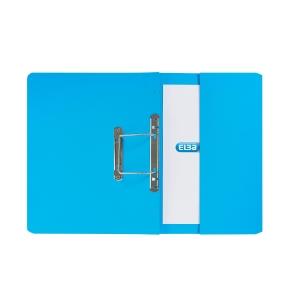 ELBA STRONGLINE BLUE FOOLSCAP SPRING POCKET FILES 310GSM 32MM CAP - BOX OF 25