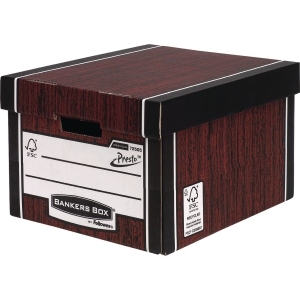 FELLOWES BANKERS BOX WOODGRAIN PREMIUM BOX H254 X W330 X D381MM - PACK OF 10