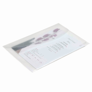 CLEAR FOOLSCAP POLYPROPYLENE POPPER WALLETS - PACK OF 5