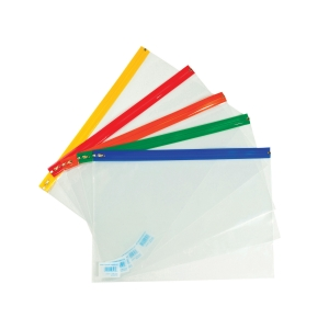 CLEAR A3+ ZIP BAGS - PACK OF 25