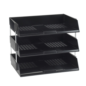 AVERY ORIGINAL WIDE ENTRY LETTER TRAY 63 X 367 X 254MM BLACK