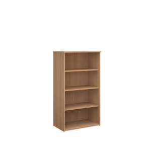 TRIOS WOODEN BOOKCASE 1500 X 938 X 350MM BEECH