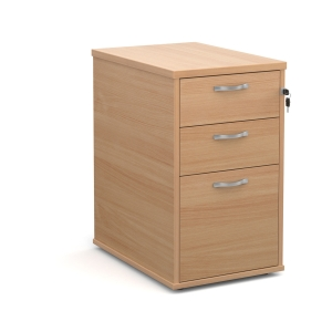 TRIOS DESK HIGH PEDESTAL 600MM BEECH