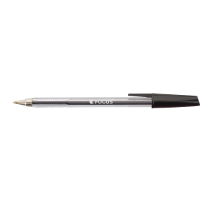 FOCUS MEDIUM POINT BALL PEN BLACK - BOX OF 50