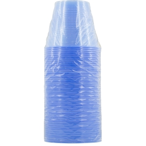 BLUE PLASTIC CUPS 210ML - BOX OF 1,000