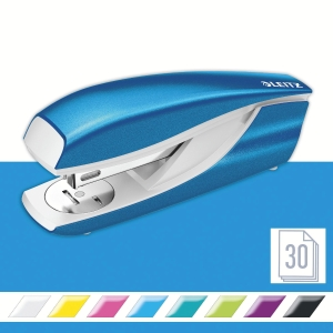 Leitz NeXXt Series WOW 5502 Metal Office Stapler - Metallic Blue