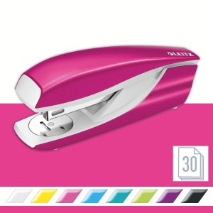 Leitz NeXXt Series WOW 5502 Metal Office Stapler - Metallic Pink