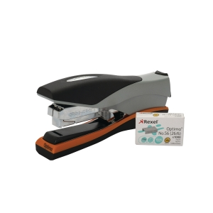 REXEL OPTIMA 40 FULL STRIP STAPLER GREY / ORANGE