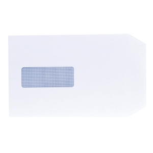 LYRECO ENVELOPES WHITE C5 WINDOW 100GSM PEEL AND SEAL - BOX OF 500