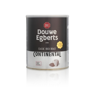 DOUWE EGBERTS CONTINENTAL RICH ROAST INSTANT COFFEE TIN 750G