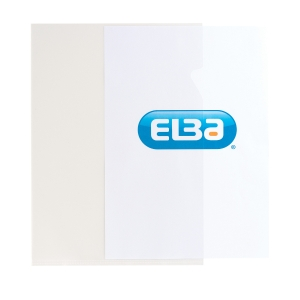 Elba A4 Cut Flush Folders, Clear